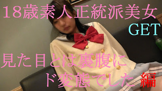 FC2-PPV 582397 18歳素人S級美女GET 清楚感抜群の美女、実はド変態だった。初回動画特典付き