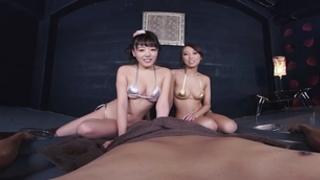 ハーレム二輪車ローションSEX 浜崎真緒 共演:松嶋葵