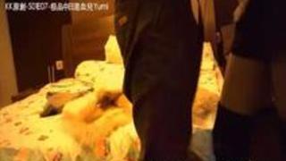 【デリヘルラブホ盗撮】モデル体型の韓国系デリヘル嬢と本番セックスする様子を客が隠し撮り。