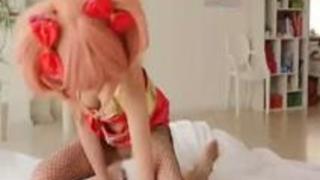 美嘉姉コスの少女の網タイツ破ってハメ撮りしましたwww