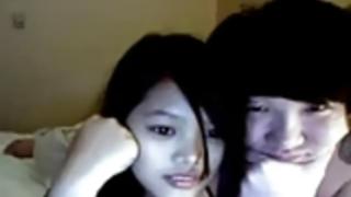 中国のウェブカメラのカップル